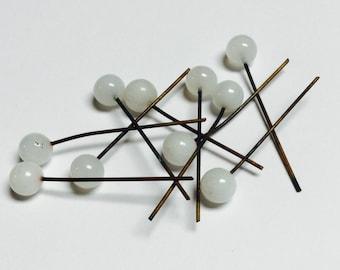 German vintage glass head pins - 40 Pieces -  #146
