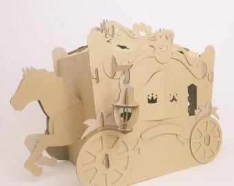 Carriage Cinderella For Princess Playhouse Cardboard Castle
