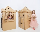 Cardboard Magic Castle. Princess castle playhouse. Cardboard castle tower