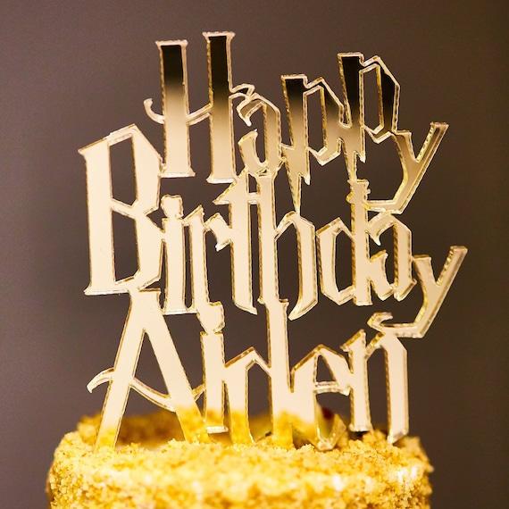 Happy Birthday Harry Potter Personalized Cake Topper Etsy