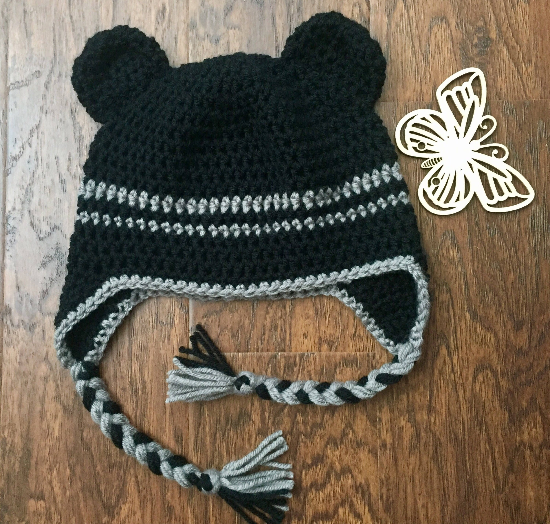 Baby boy crochet hat crochet beanie baby bear handmade hat  8e81ec9413ce