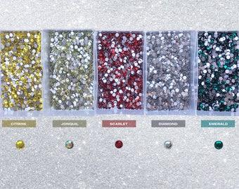 Foil flat back crystal rhinestones. 50 pcs or 100 pcs. Mixed packs of 2  sizes. Embellishments eb8308337c51