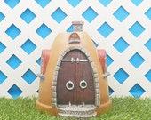 Fairy Garden House Planter Pot Flipped Upside Down, Miniature Gardening Figurine 30004999D