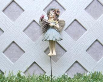 Terrarium Accessory Fairy Garden Miniatures Fairy World Garden Figurine Fairy Garden Fairy Catching Butterflies  #0091WFG Fairy Molly