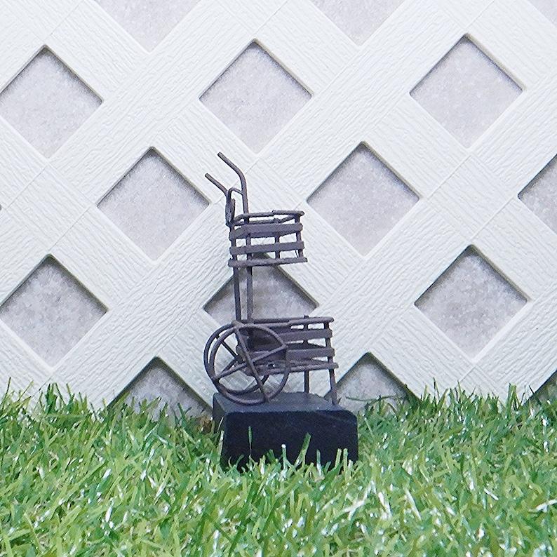 Miniature Gardening Figurine  #50753MDI Mini Garden Plant Cart Stand