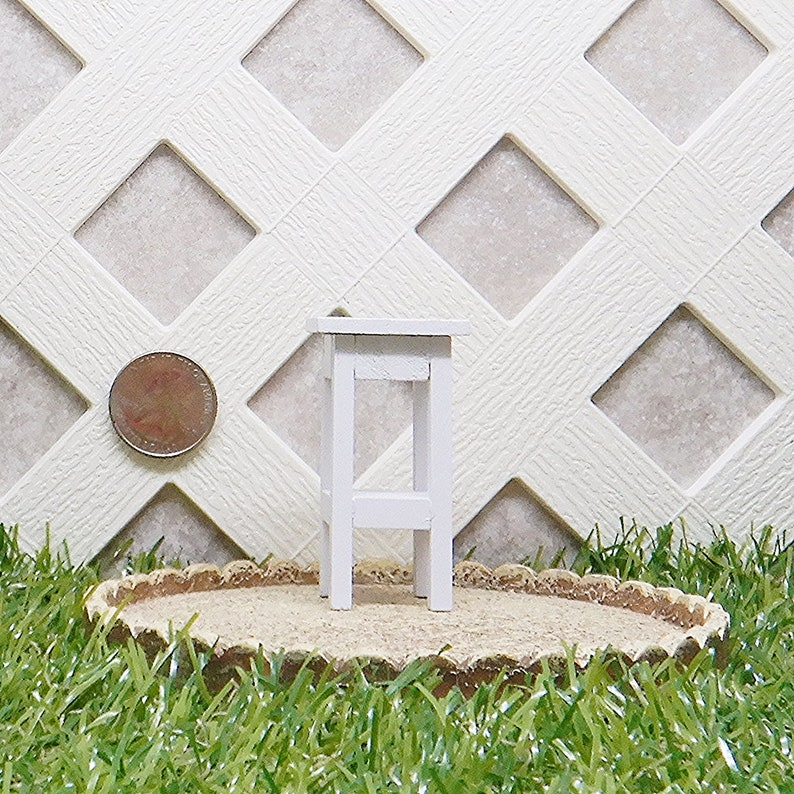 Timeless Minis Side Table Dollhouse Miniature  #2318-12D Fairy Garden Miniature Dollhouse Accessory Furniture Plant Stand End Table