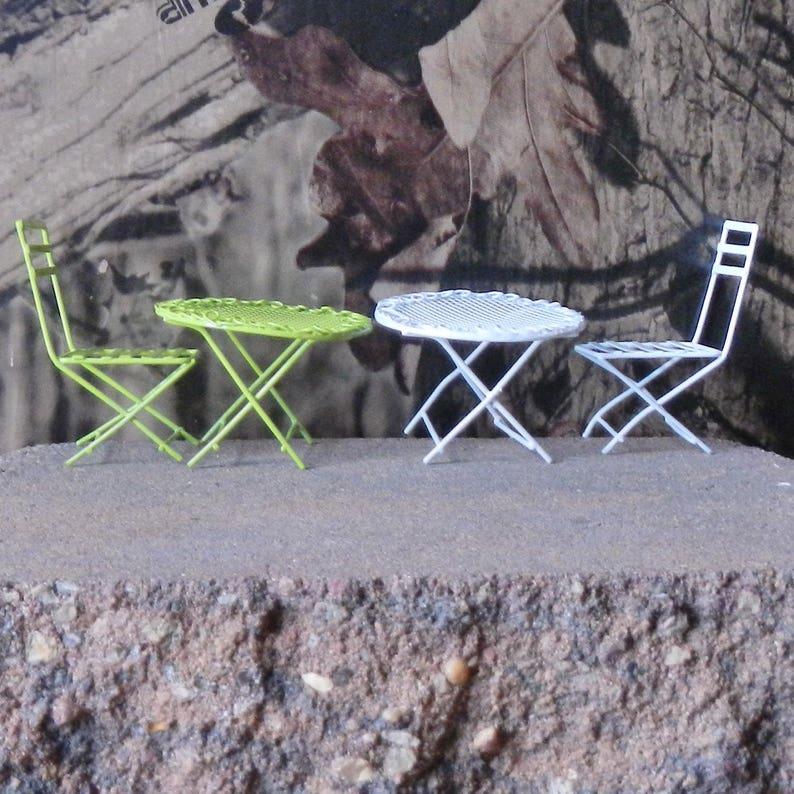 Brilliant Garden Furniture Table And Chair Fairy Garden Miniature Patio Furniture Lawn Furniture Yard Furniture Dollhouse Furniture 30001614D Download Free Architecture Designs Scobabritishbridgeorg
