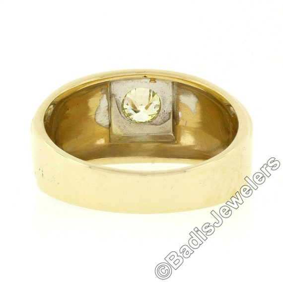 Antique Mens'  Unisex 14k Two Tone Yellow and Whi… - image 9
