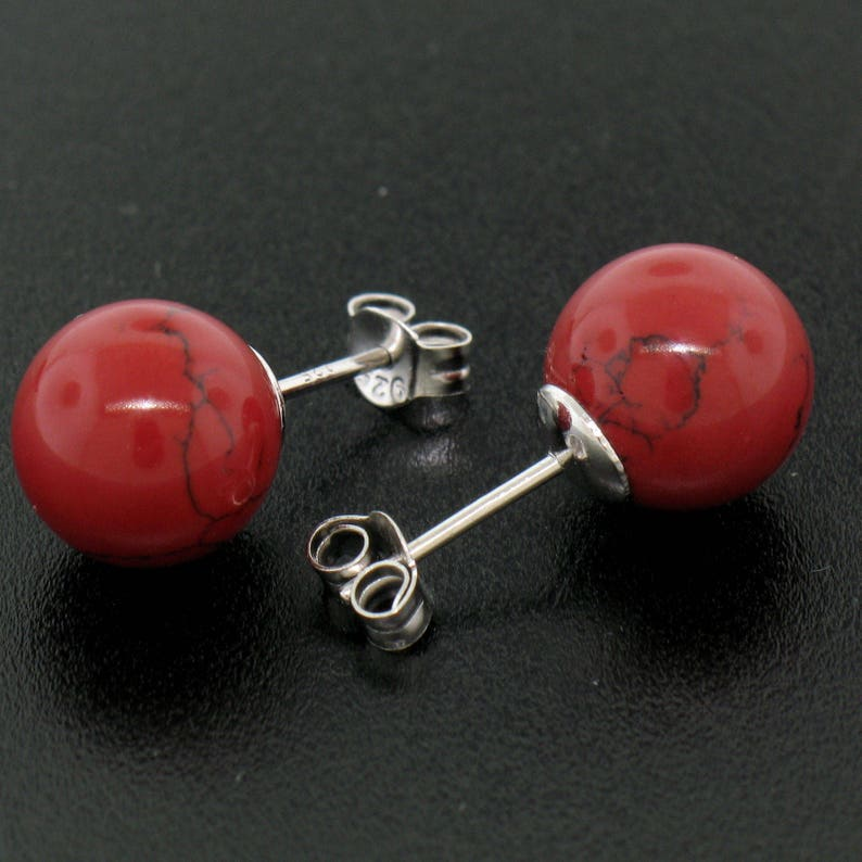 Round Ball Post Large Classic .925 Sterling Silver 10mm Stud Stud Earrings