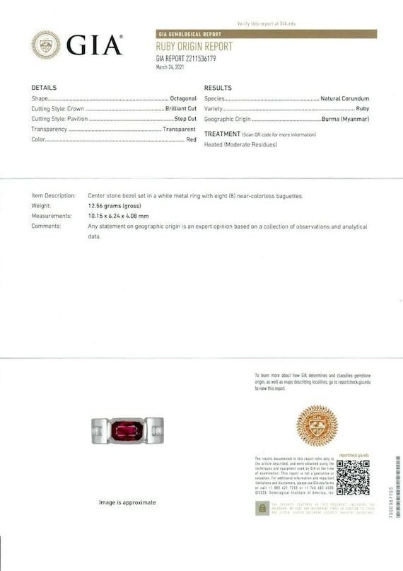 Unisex Vintage 14k White Gold 3.55ctw GIA Certifi… - image 10
