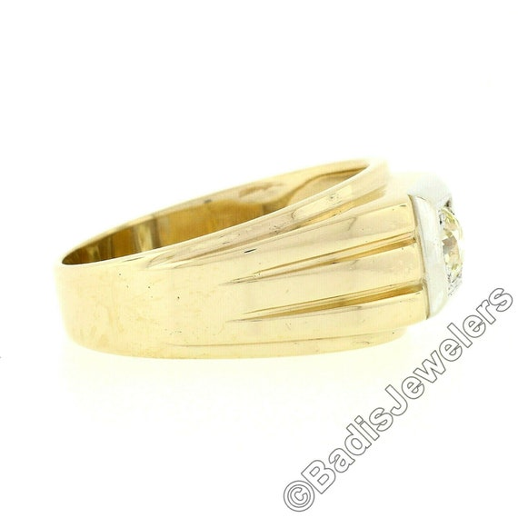 Antique Mens'  Unisex 14k Two Tone Yellow and Whi… - image 8