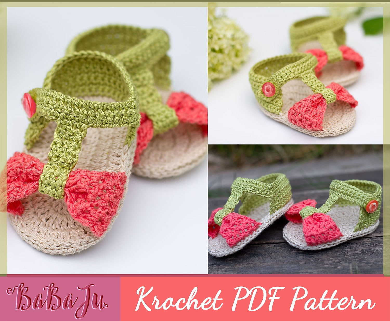 Crochet Baby Pattern Sandals Baby Shoe Pattern Bootie Etsy