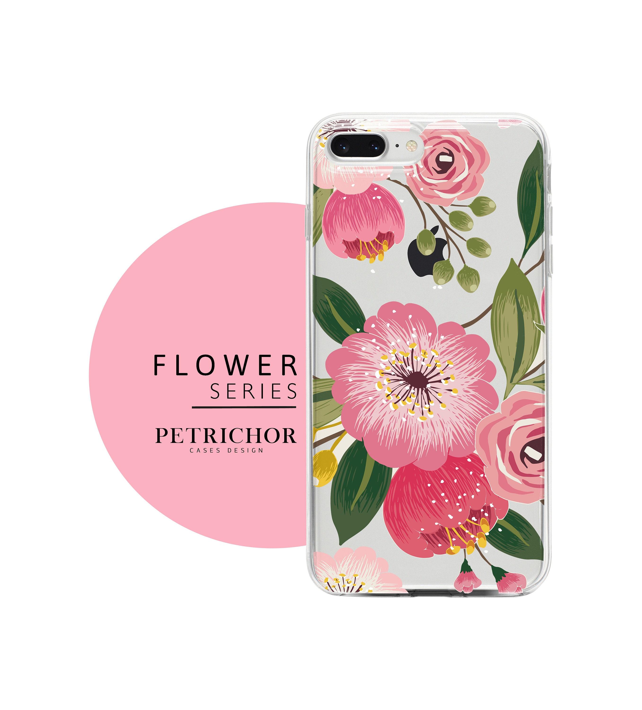 Floral Iphone Case Iphone 7 Case Iphone 7 Plus Case Etsy