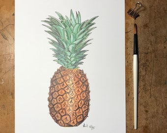 A4 Pineapple Print | Limited edition | hand signed