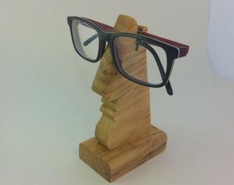 b368dbaf8a1 Oak   Wooden Nose-Shaped Spectacles   Glasses Holder   Stand