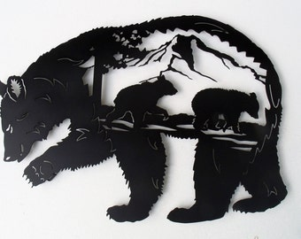 """Bear Family, 16"""" x 12"""""""
