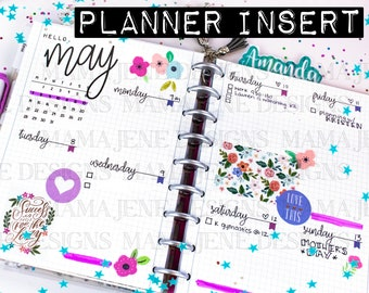 Happy Planner Classic Weekly Bujo Insert - 12 Month Weekly Inserts - Bujo Planner Pages - Printable Bullet Journal Pages