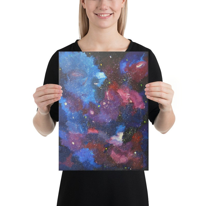 Nebula decor Galaxy print Space fabric art Galaxy fabric Space wall art Astronomy gift Colorful nebula Space poster Space canvas