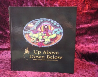 Up Above Down Below; children's illustrated book all about dragons
