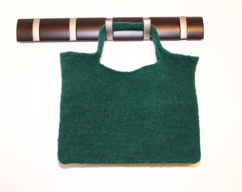 Green Felted Tote Bag