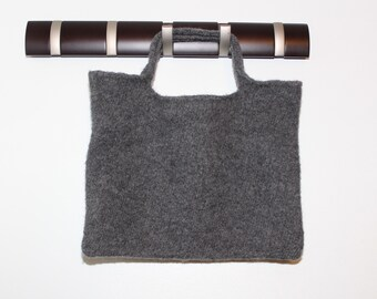 Large Gray Felted Tote