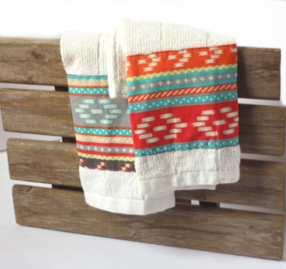 Striped Bamboo Kitchen Towels, Pastel Absorbent Hand Towels, Microfiber Tea  Towels, Made in NC, Sewn by Refugees