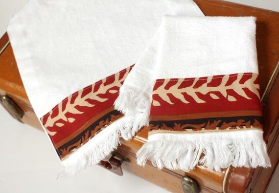 Boho Fringed Fingertip Towels Africa Fabric Burp Towels Etsy