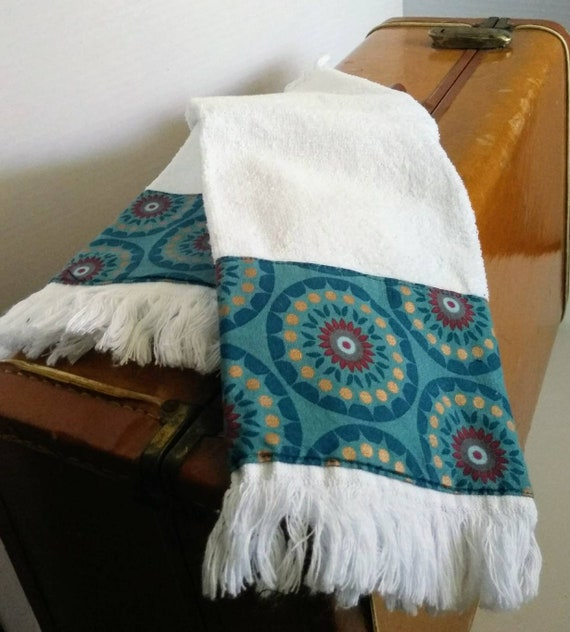 Absorbent Cotton Fringed Kitchen Towels Flower Kitchen Etsy