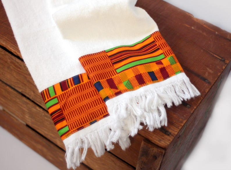 Kente Fingertip Towels African Print Towels Small Kitchen Etsy