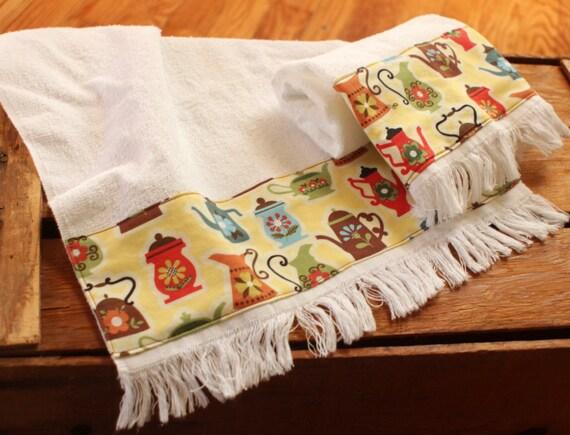 Absorbent Cotton Towels Coffee Tea Towels Fingertip Towels Etsy