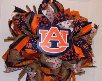 Burlap Auburn Tigers Wreath