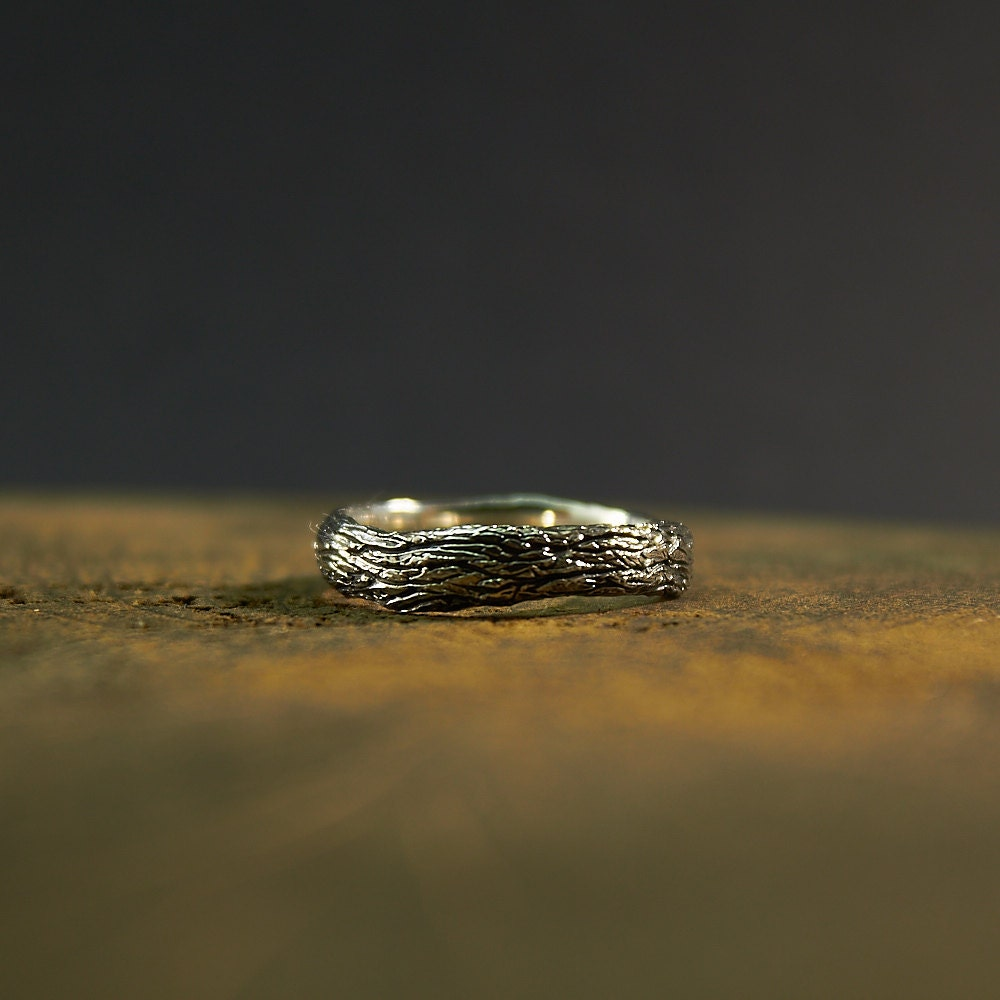 Sterling Silver Tree Ring zweigring Ast Ring Baumringe