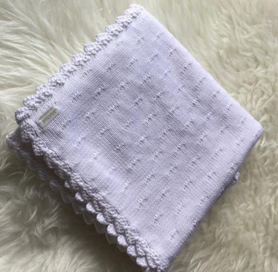 Babydecke Strickdecke Decke gestrickt Strukturmusterdecke   Etsy