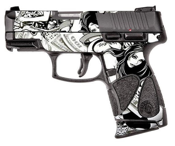Custom Gun Wrap for Taurus TP111 Millennium G2 (G2c and G2s compatible) 9mm  Polymer Grip Sub Compact