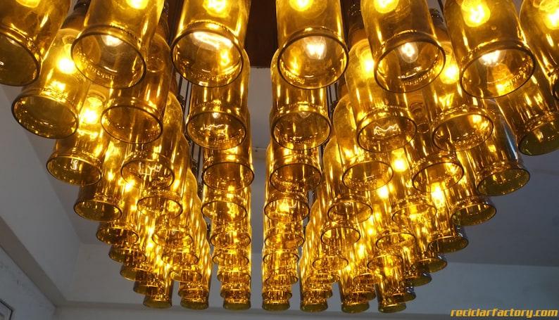 Lampadari Fatti Con Bottiglie Di Vetro.Lampadario Di Bottiglia Di Birra Per Lampada Restro Bar Cafe Hotel