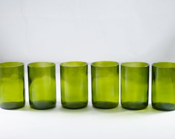 Wholesale | Bulk 12 oz Wine bottle Glasses | Upcycled Boutique Cups | Eco Drinking Tumblers | 350ml Restaurant Water Glasses