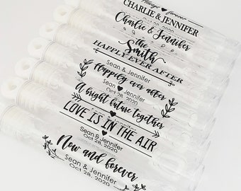 90 Rustic Themed Bubble Tube labels stickers for Wedding Anniversary Party