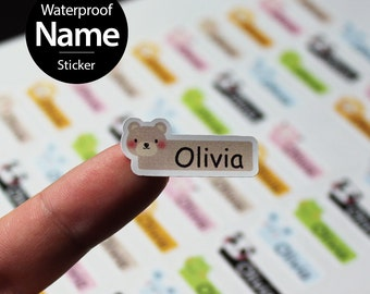 52pcs personalized Waterproof name sticker for daycare, kindergarten, daycare. Customized Design and tear resistant Label.