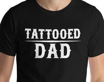 29b6cd2c Tattoo T Shirt - Tattooed Dad Tshirt - Tattoos Shirts for Men