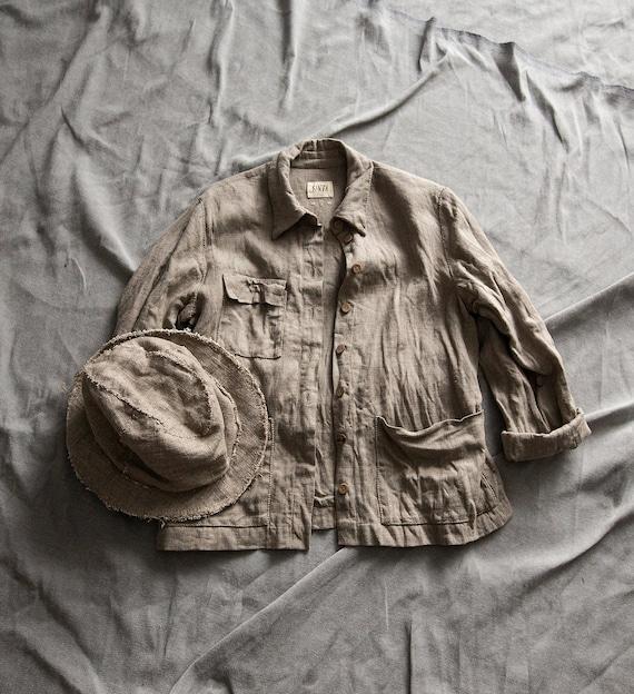 Blazer Arbeitsjacke Jacke Vintage Leinen Kleidung Mantel Staubtuch Boho Stammes Rustikale SafariFrauen Yf76gbyv