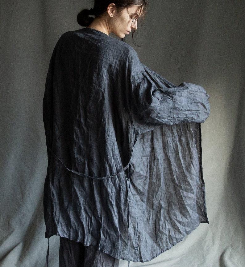 fe2bc0460a0 Women s linen robe FOG. Linen gauze robe linen pyjama