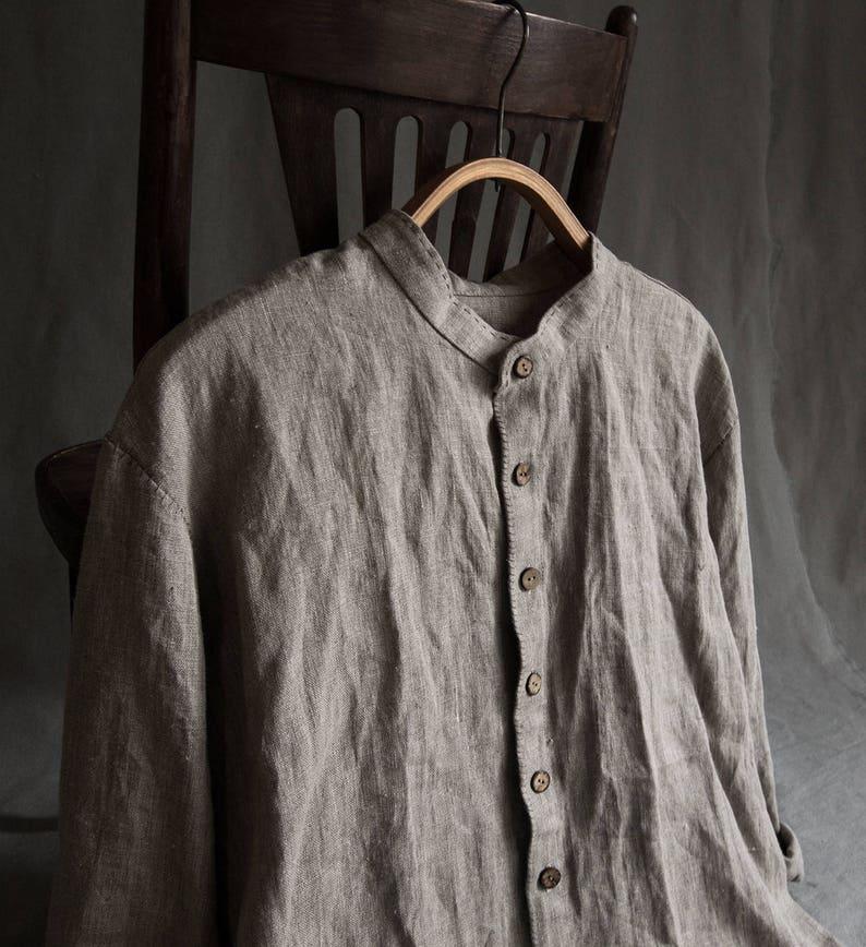 Zwart Linnen Heren Overhemd.Linnen Mannen Kleding Linnen Overhemd Zwart Hemd Voor Mannen Etsy
