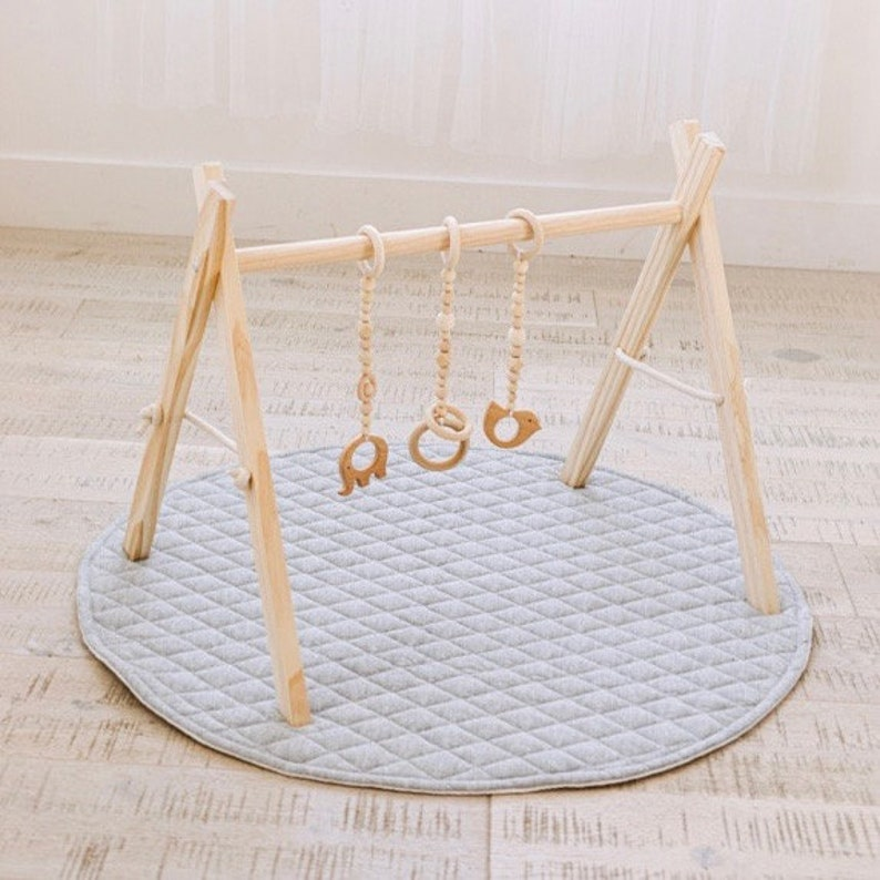 Baby Play Gym Natural Wood Play Gym For Babies Wooden Baby Gym