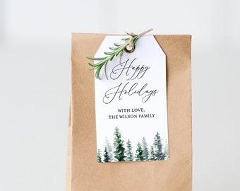 christmas gift tag template printable holiday gift tag or etsy