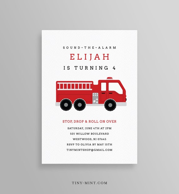 picture regarding Fire Truck Template Printable called FireTruck Birthday Occasion Invitation Template, Printable Fireplace Truck Invite, Firefighter, Editable Terms, Quick Down load, Templett #108BD2