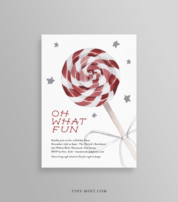 Editable Holiday Party Invitation Template Printable