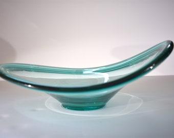 Danish Modern Per Lutken for Holmegaard Selandia Bowl in Turquoise