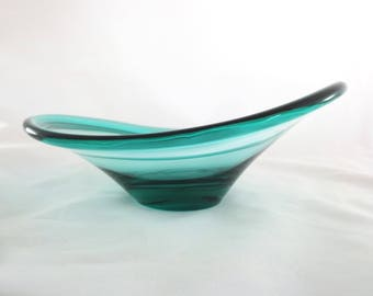 Danish Modern Per Lutken for Holmegaard Turquoise Selandia Bowl