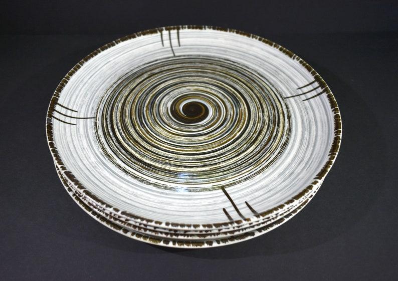 Set of 4 MCM Vintage Rare 1950s Stetson Whirlpool Breathless Swirl Dinner Plates