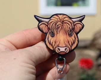 Badge Holder//Animal Lover//Dog Lover//Veterinarian//Vet Tech Retractable Badge Reel with Swivel Clip and Extra-Long 34 inch Cord Id Rather Be Fishing